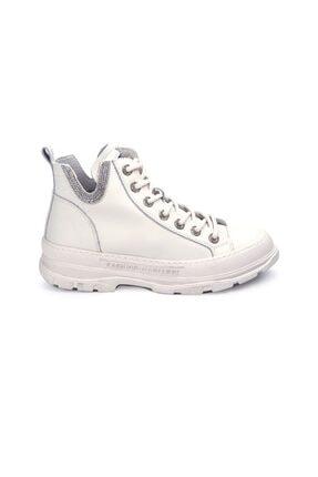 Guja Kadın Beyaz Bağcıklı Sneaker 0