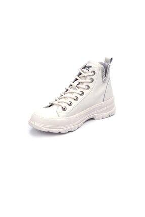 Guja Kadın Beyaz Bağcıklı Sneaker 2