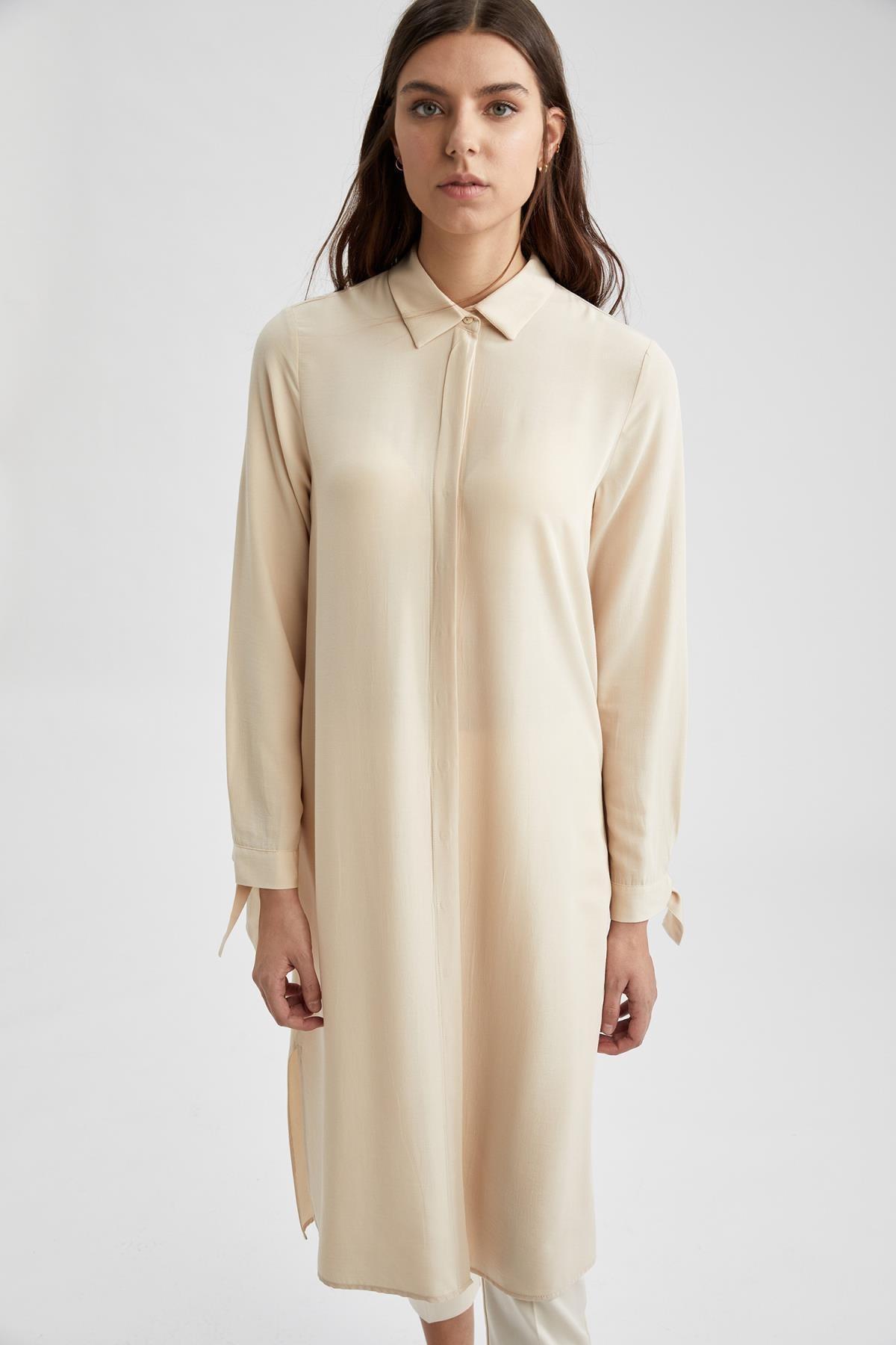 Defacto Regular Fit Uzun Gömlek Tunik 0