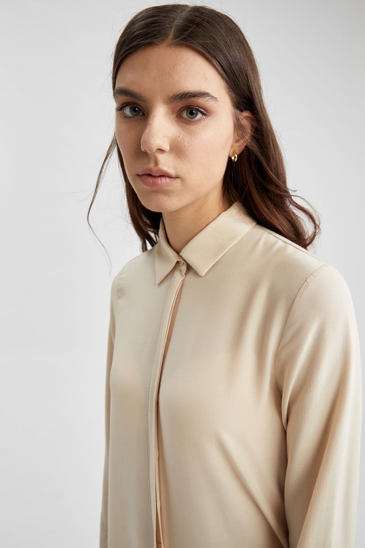 Defacto Regular Fit Uzun Gömlek Tunik 2
