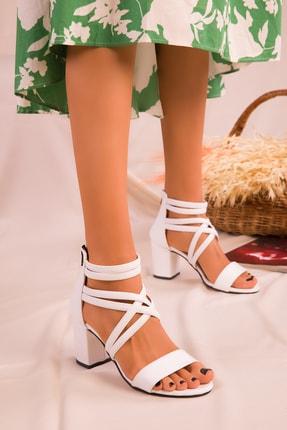 Soho Exclusive Beyaz Kadın Klasik Topuklu Ayakkabı 14670 1