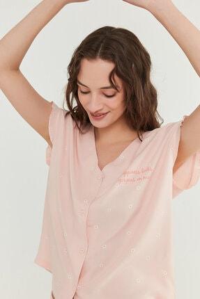 Penti Kadın Somon Gorgeous Gömlek Şort Takımı 2