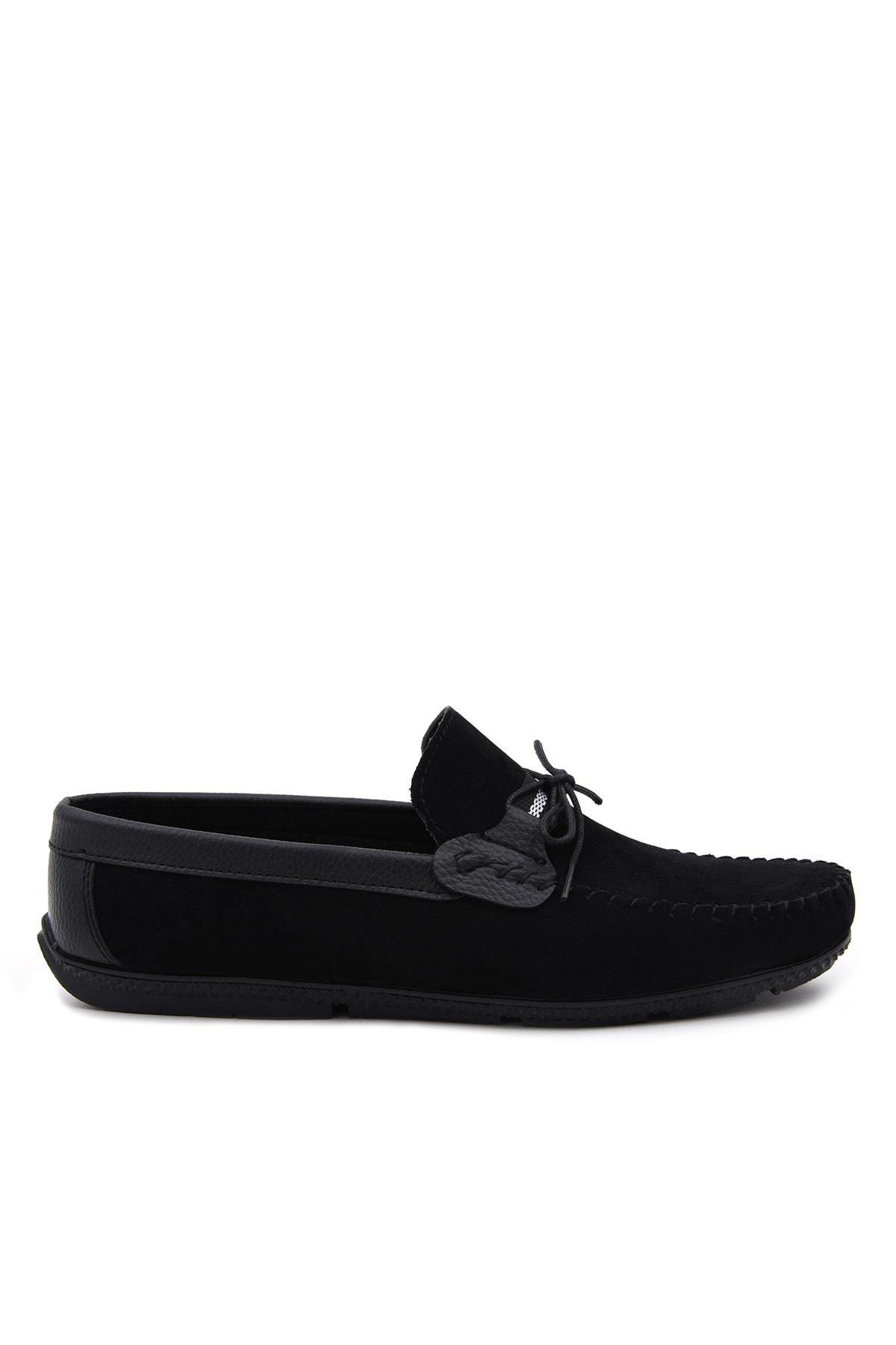 Siyah Süet Loafer Ayakkabı 350
