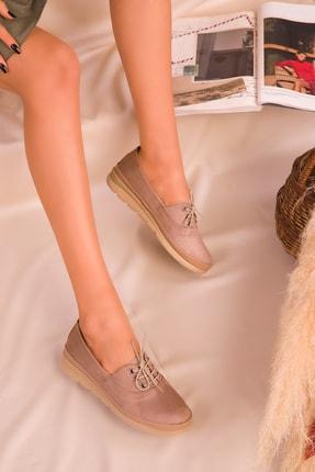 Soho Exclusive Vizon Süet Kadın Casual Ayakkabı 16114 1