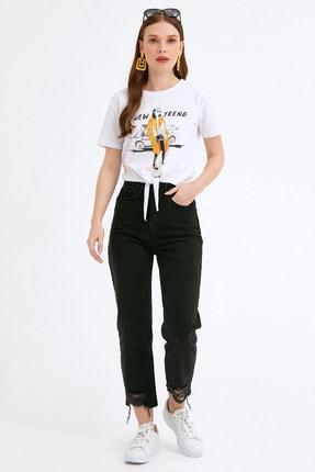 Fullamoda Kadın Paça Detaylı Pantolon 2