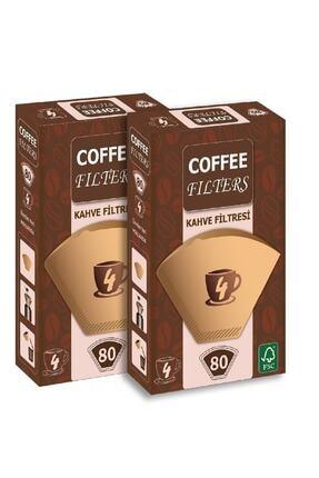 Coffee Filters Filtre Kahve Kağıdı 1 X 4 Avantajlı Paket  2 Adet 80'li 0