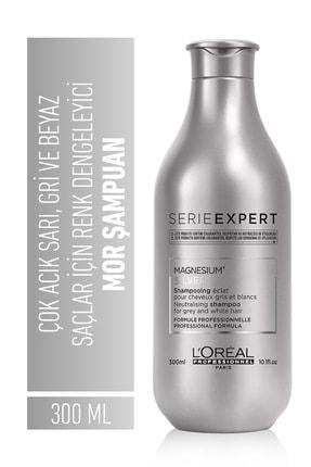 L'oreal Professionnel Serie Expert Silver Çok Açık Sarı Gri Ve Beyaz Saçlar İçin Renk Dengeleyici Mor Şampuanı 300 ml 1