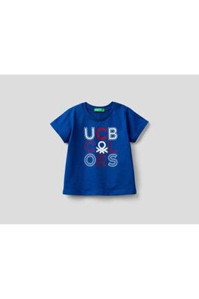 Benetton Erkek Çocuk Lacivert Yazılı Tshirt 012 0