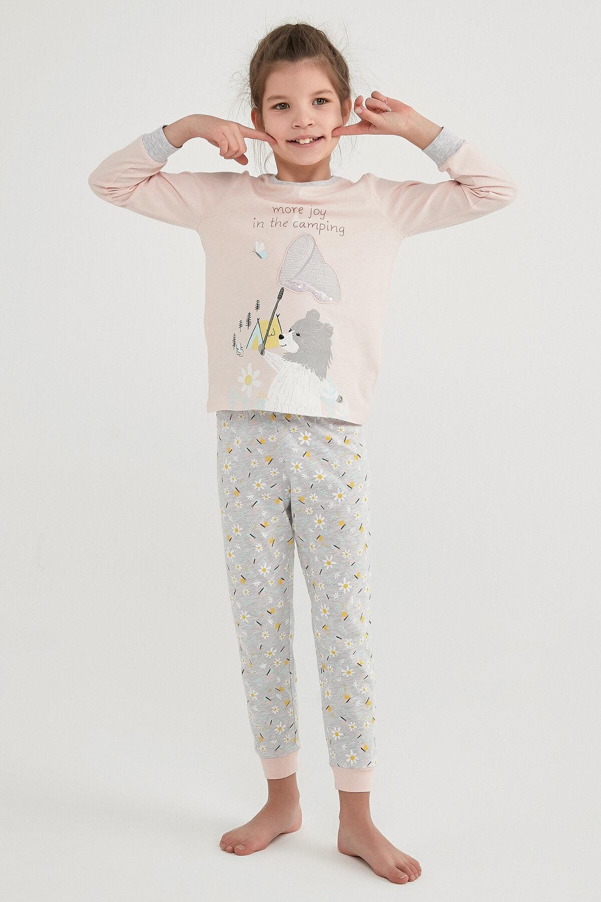 Penti Kız Çocuk Çok Renkli Campıng Joy Ls 2li Pijama Takımı 1