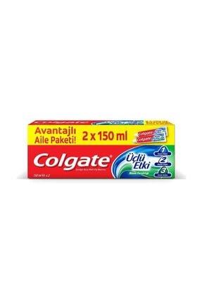 Colgate Üçlü Etki Çürüklere Karşı Koruma Diş Macunu 150 Ml X 2 Adet 0