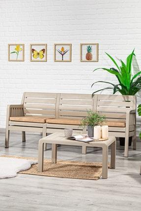 SANDALİE Lara 3 1 1 S Balkon&teras Bahçe Mobilyası / Cappucino 1
