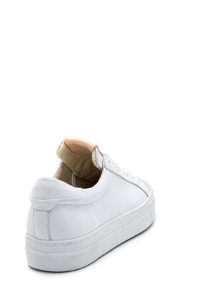 Derimod Kadın Beyaz Deri Sneaker 4