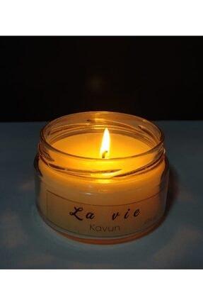 La Vie Candle La Vie Soya Wax Kavun Esans Naturel Kavanoz Mum 3