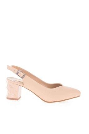Bambi Bej Kadın Klasik Topuklu Ayakkabı K01688071109 1