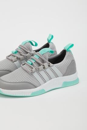 Muggo Unisex Gri Sneaker Ayakkabı Mgforce01 3