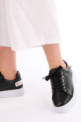Marjin Kadın Siyah Sneaker Spor Ayakkabı Volares 3