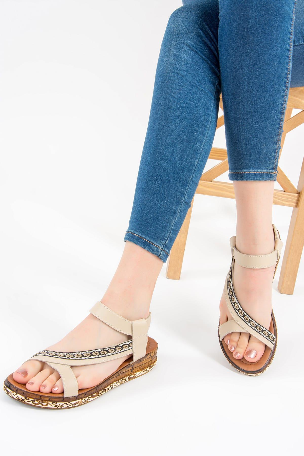 Bej Kadın Sandalet F288091009