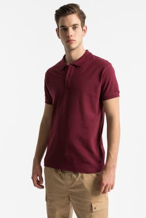 Ltb Erkek  Bordo Polo Yaka T-Shirt 012198450860890000 0
