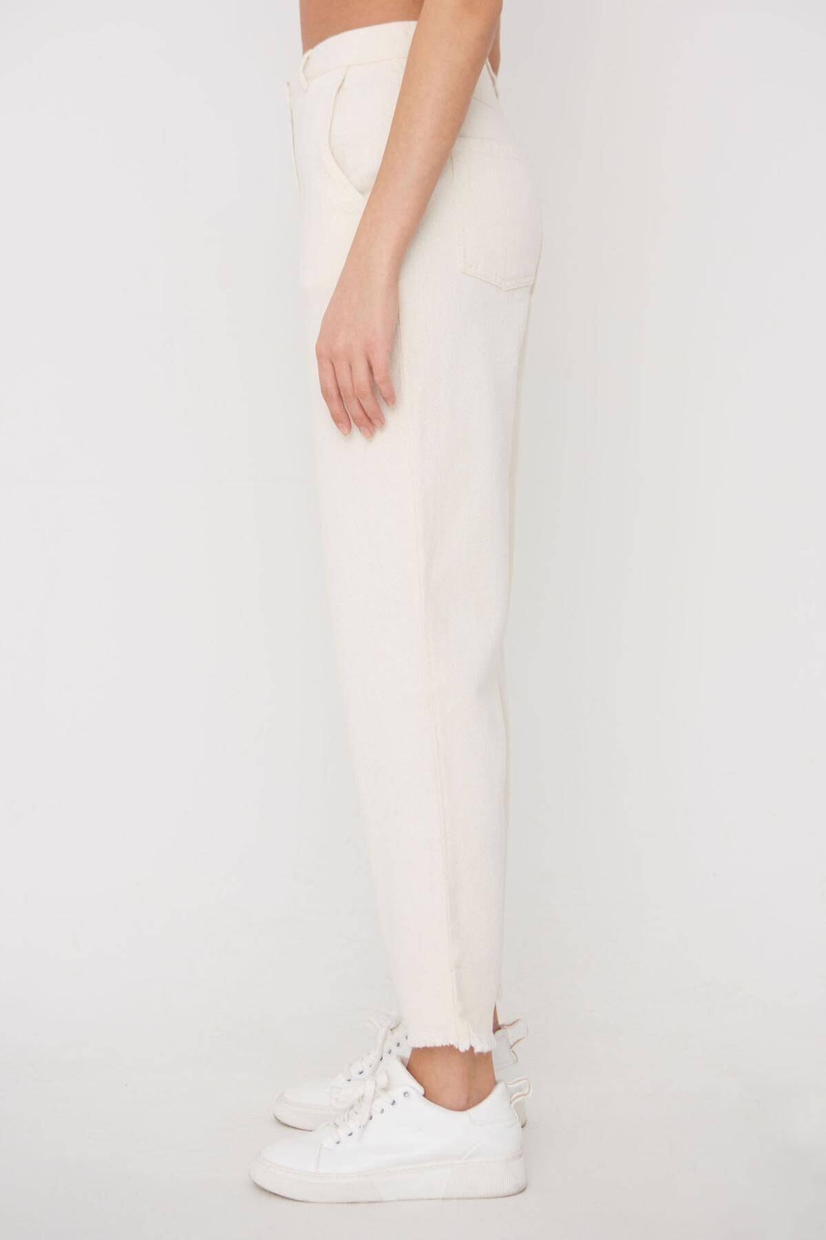 Addax Kadın Ham Paça Detaylı Pantolon Pn11-0049 - K8 Adx-0000023876 3