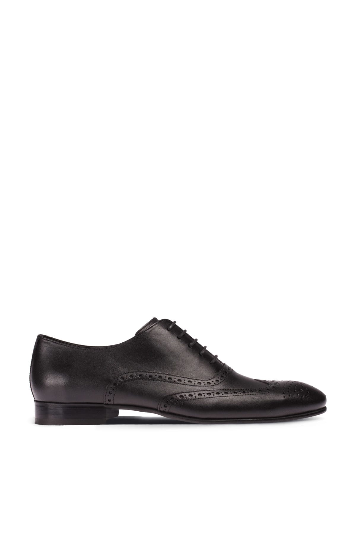 Hakiki Deri Siyah Klasik Erkek Ayakkabı 01785MSYHM02