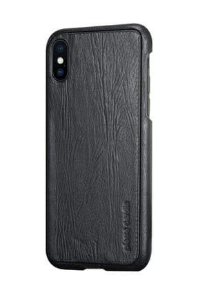 iPhone X - XS (5.8) Siyah Klasik Deri Arka Kapak PCL-P03 Model_10