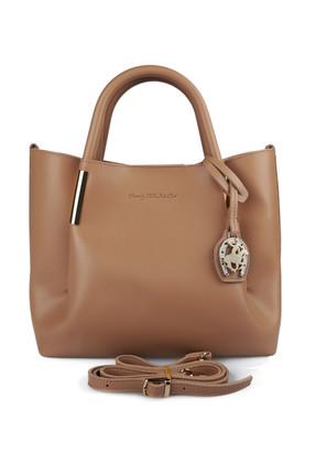 Beverly Hills Polo Club Kadın El ve Omuz Çantası Camel 3