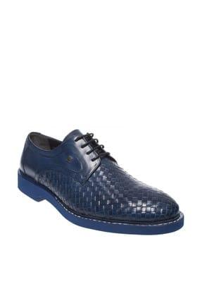 Fosco Hakiki Deri Mavi Erkek Ayakkabı 248 9036M 0