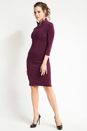 Laranor Kadın Mürdüm Yaka Detaylı Kalem Elbise 15L4548 0