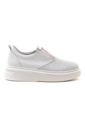 GRADA Beyaz Önden Lastikli  Hakiki Deri Sneaker Ayakkabı 1
