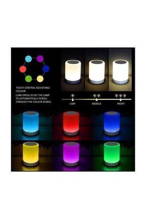 Escom Renk Değiştiren Led Işıklı Taşınabilir Kablosuz Bluetooth Hoparlör 1