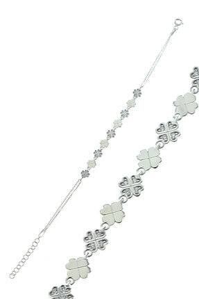 Söğütlü Silver Kadın Yonca Modeli Bileklik SGTL8283 0