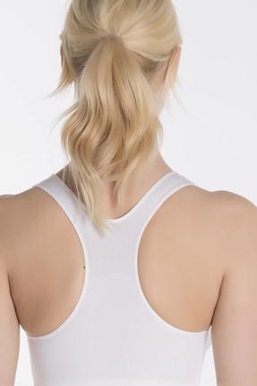 Miaju Kadın Beyaz Sporcu Sütyen 21227110-B 2