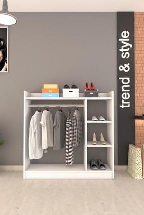 Remaks Pratik 3 Raflı Elbise Dolabı - Beyaz 2