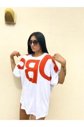 easechic Kadın Oversize Baskılı Tshirt 0