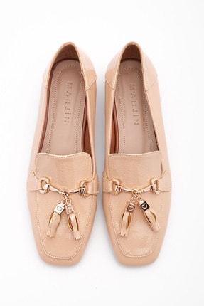 Marjin Kadın Bej Rugan Loafer Ayakkabı Desar 2