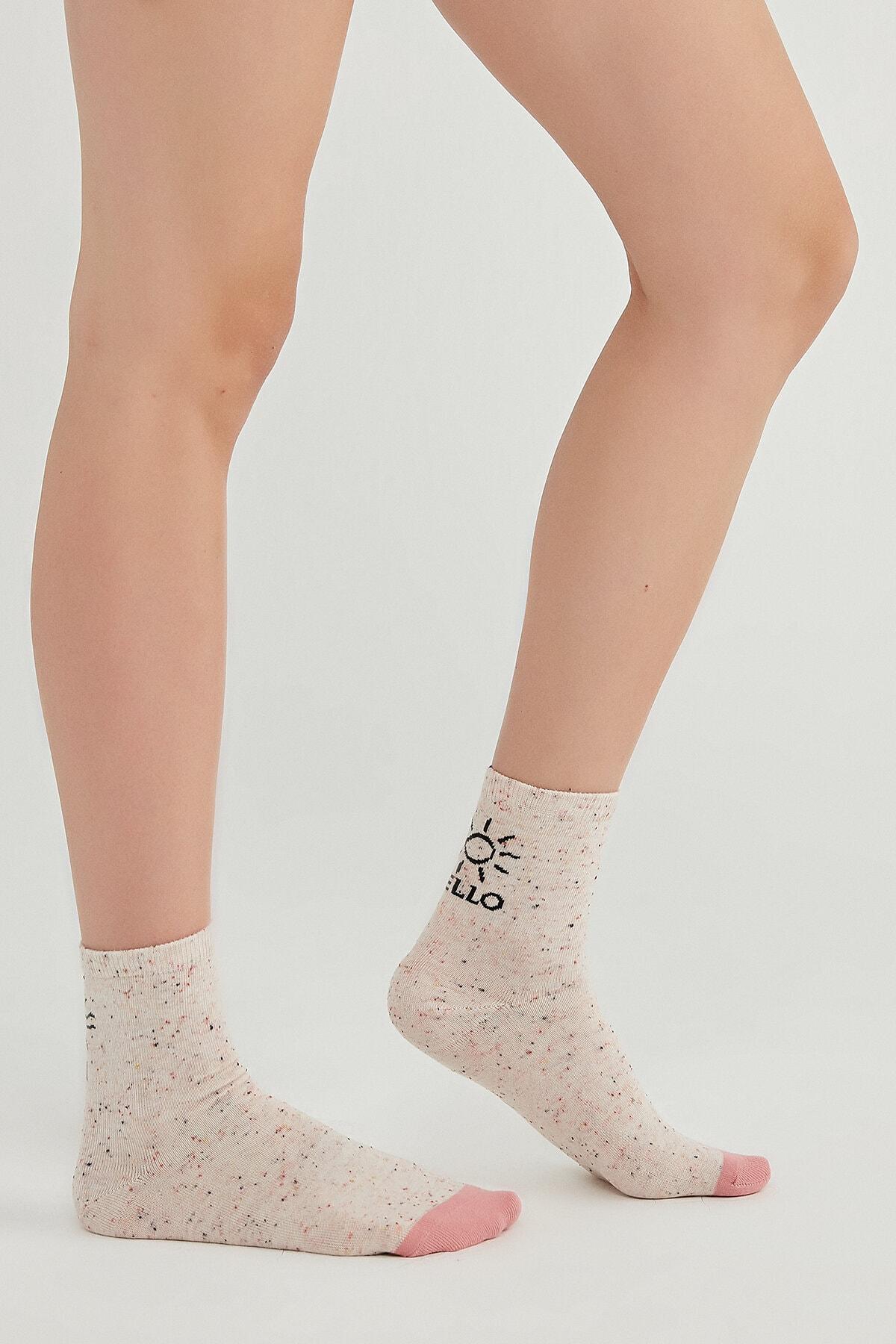 Penti Kadın Gri Hello Sun Soket Çorap 0