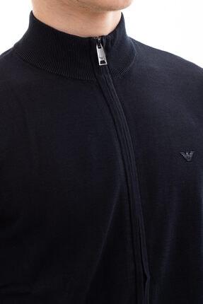 Emporio Armani Erkek Mavi Knıtted Cardıgan Ceket 8n1eb1 1mppz 3