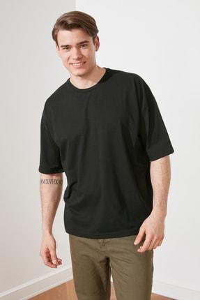 TRENDYOL MAN Siyah Erkek Oversize T-Shirt TMNSS21TS3022 0