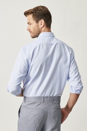 Altınyıldız Classics Erkek Açık Mavi Düğmeli Yaka Tailored Slim Fit Oxford Gömlek 4