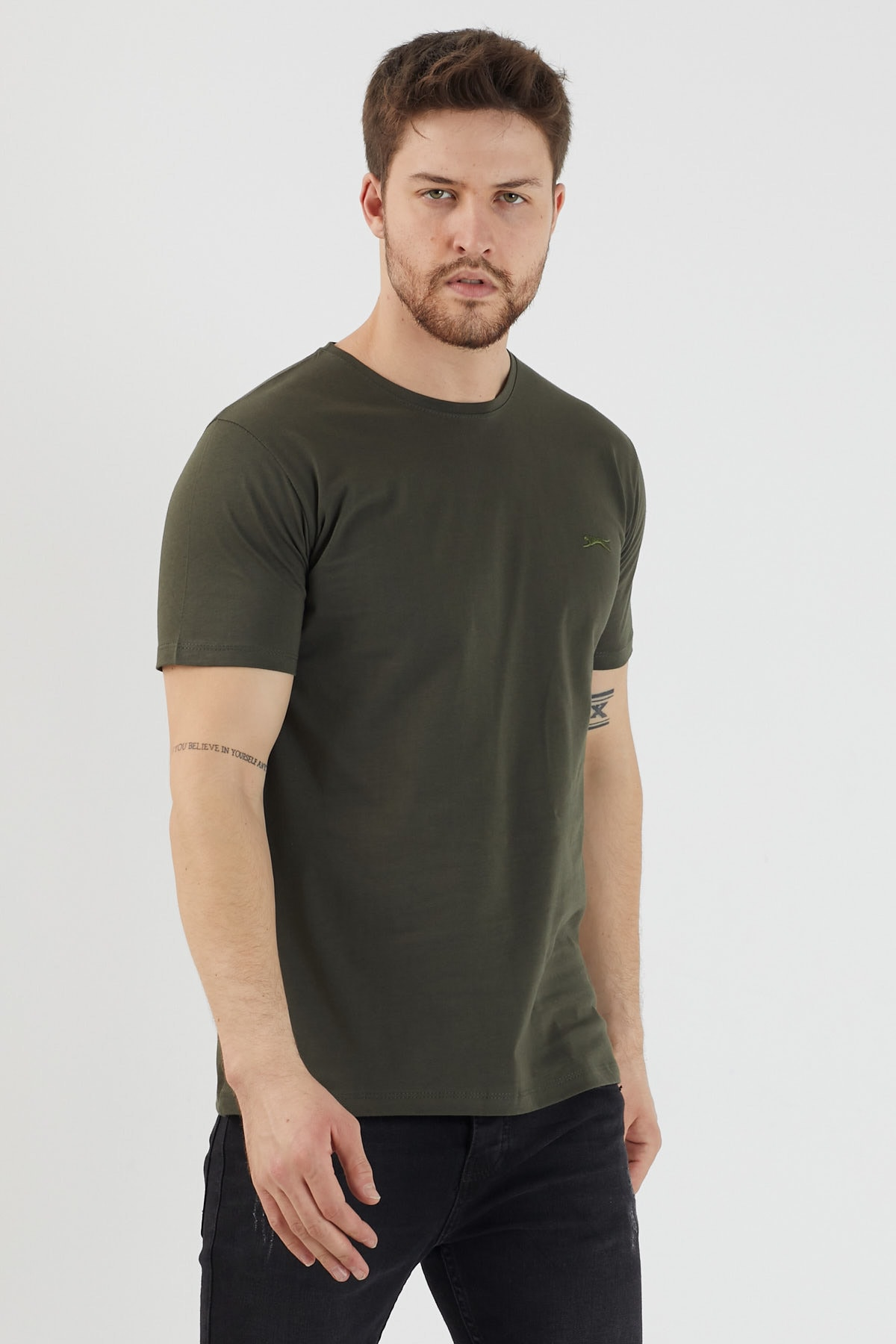 Slazenger SANDER Erkek T-Shirt Haki ST11TE083 1