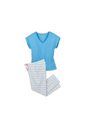 Tchibo Kadın Pamuklu Pijama Takımı 2