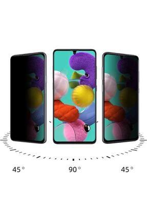 EPRO Samsung M51 Siyah Gizlilik Filtreli Privacy Hayalet Ekran Koruyucu Yanlardan Bakıldığında Görünmez 2