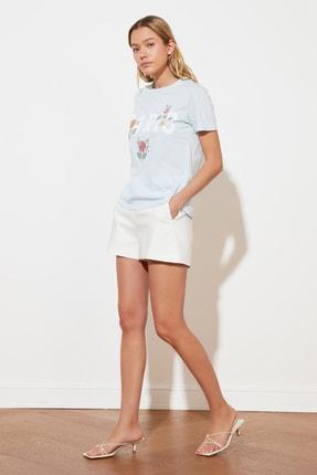TRENDYOLMİLLA Mavi Basic Örme T-Shirt TWOSS21TS1939 0
