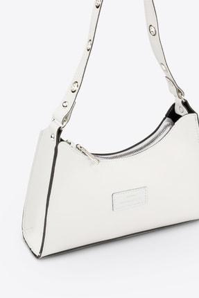 Housebags Kadın Beyaz Baguette Çanta 195 3
