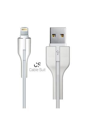 TAYFUN Beyaz Cable Protector Iphone Uyumlu Kablo Koruyucu 2