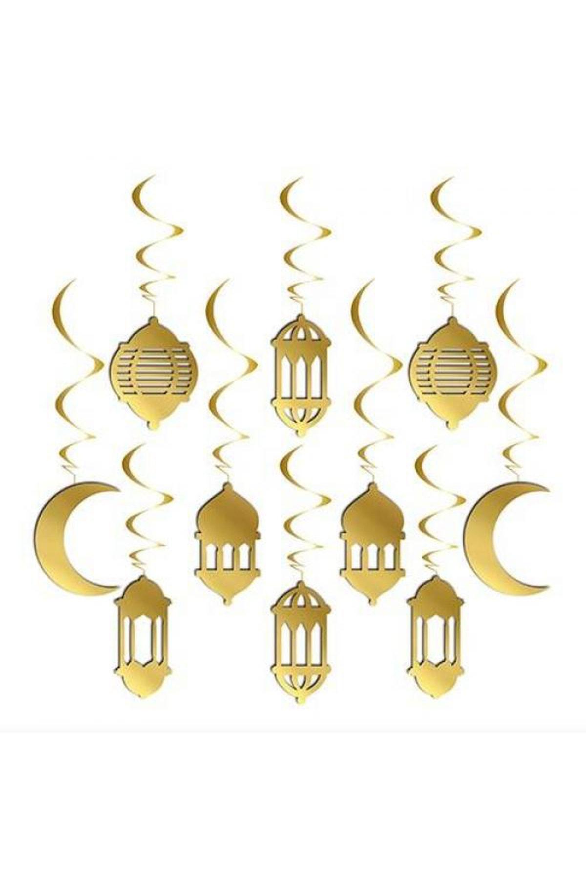 10 lu Gold 3D Tavan Süs Hoşgeldin Kurban Bayramı 11 Ayın Sultanı Temalı Sarkıt Dini İslami Süsü