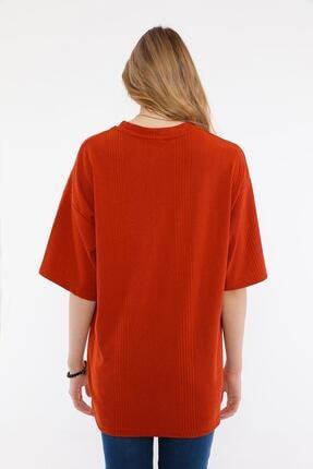ALEXANDERGARDI Kadın Kırmızı Oversize T-shirt 2