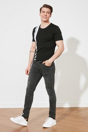 Antrasit Erkek Yırtık Detaylı Normal Bel Skinny Fit Jeans TMNSS21JE0184 resmi
