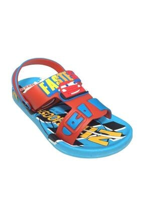 Gezer Kaymaz Taban Mavi Şimşek Mcqueen Temalı Çocuk Sandalet Terlik 2