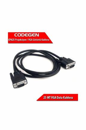 CODEGEN CPA25 25 Metre M/M Monitör VGA Data Kablosu 0